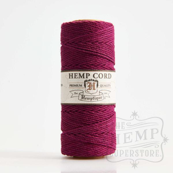 hemp cord spool burgundy