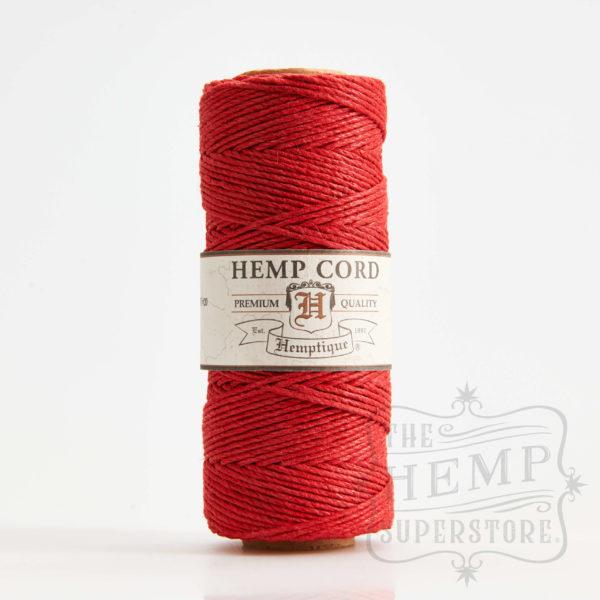 hemp cord spool red