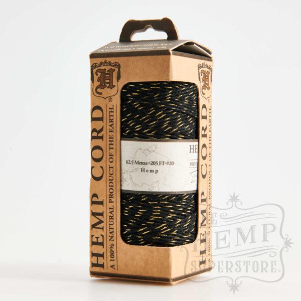 Hemp Cord Black and Gold