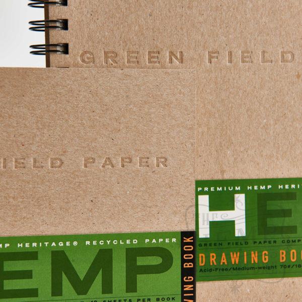 natural hemp drawing paper book