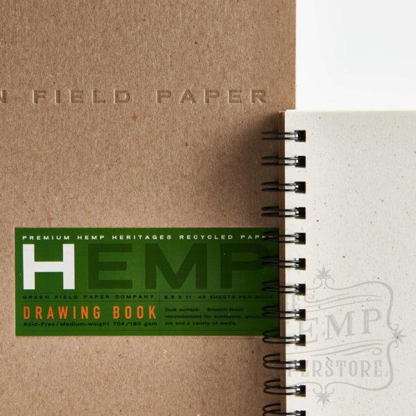 hemp drawing paper book